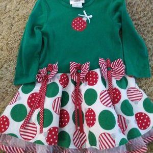 Rare Editions Ornament Dress/Cute and Festive!!!